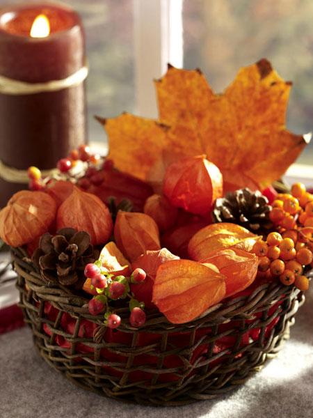 Осенние интерьерные композиции