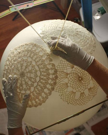 Как сделать абажур своими руками из салфеток