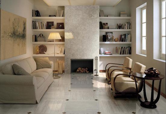 Выбор керамической  плитки для гостиной