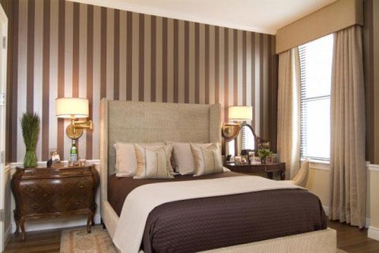 Текстильные обои для спальни фото