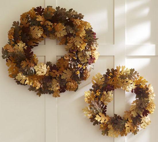 Декоративные венки на дверь в осеннем стиле
