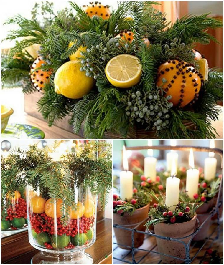 Декорации с ягодами и фруктами