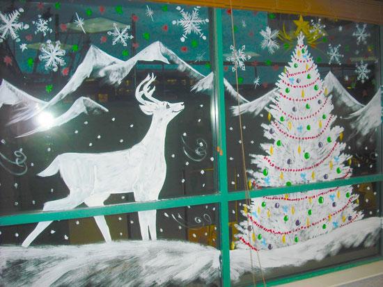 Как украсить окна на Новый Год самостоятельно
