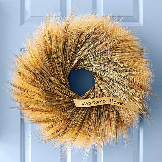 Венок из пшеничных колосков