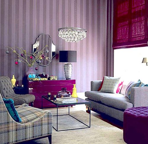 Насыщенные фиолетовые цвета в интерьере