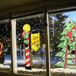 Фото 76: новогодняя роспись окна