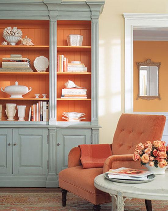 Персиковый цвет в классическом интерьере фото
