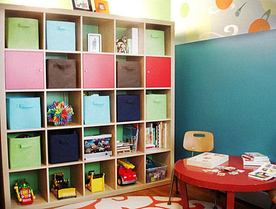 Декоративные коробки в интерьере детской комнаты