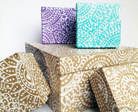Декоративные коробки своими руками фото