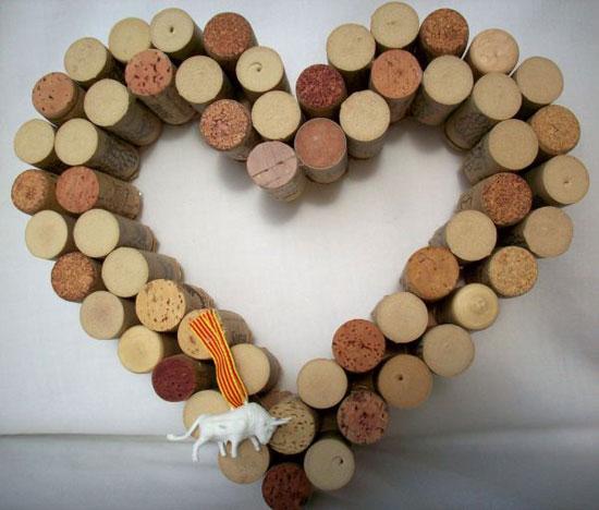 Поделки из винных пробок для интерьера