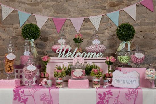 Сладкие украшения для свадебного стола