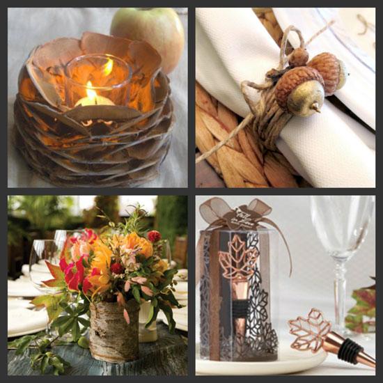Как украсить свадебный стол осенью