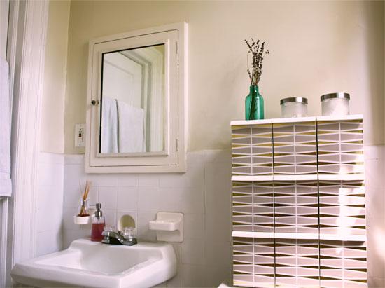Декоративные коробки в ванной