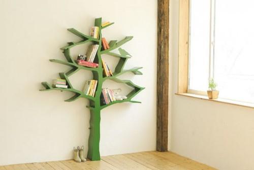 Объемное дерево в интерьере - украшение пустой стены