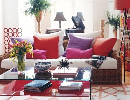 Стиль бохо в интерьере гостиной комнаты