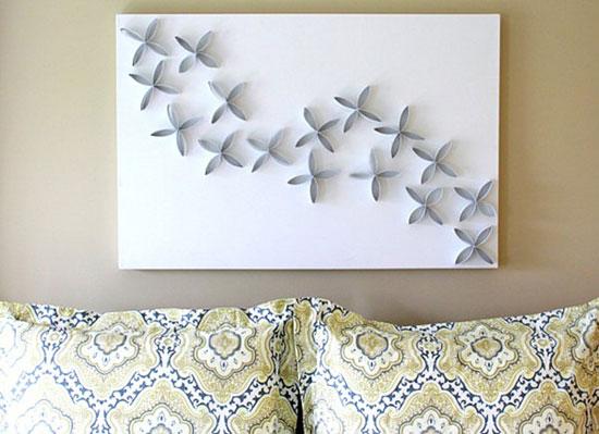 Оформление пустой стены крупным изображением