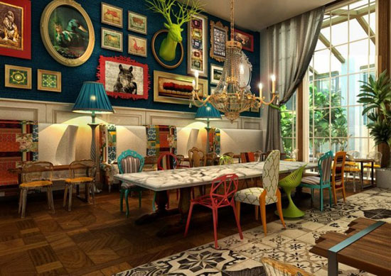 Оформление гостиной комнаты в стиле бохо