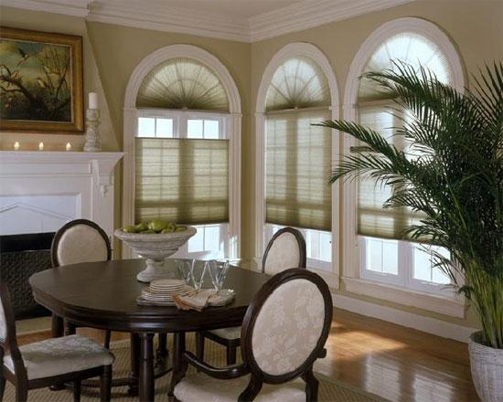 Арочные окна с закругленной формой