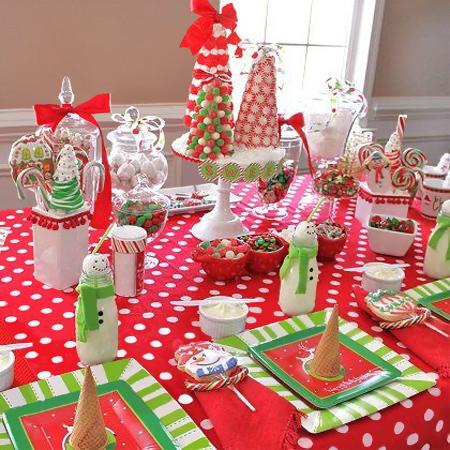 Сервировка новогоднего стола для детей