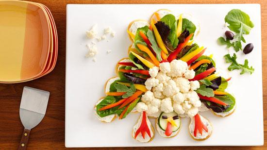 Закуски из овощей для праздничного детского стола