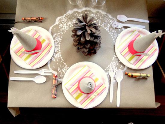 Украшения для детского стола к празднику