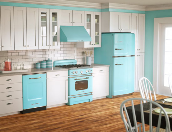 adorable-blue-kitchen-interior-with-white-brick-wall-and-wooden-floor-also-white-kitchen-cabinet-915x703