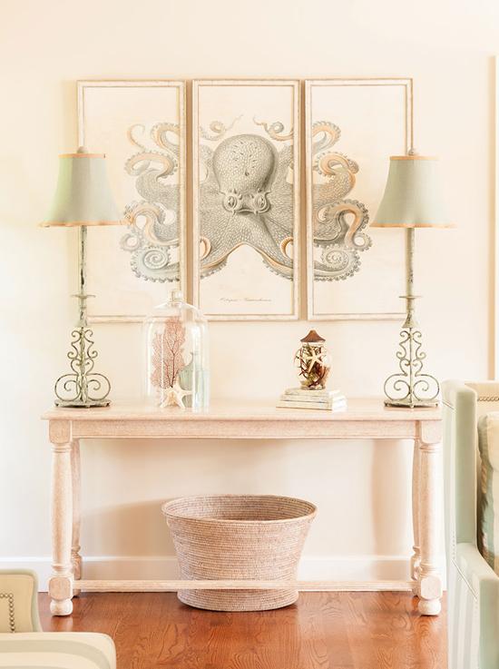 Аксессуары для гостиной в розовых тонах