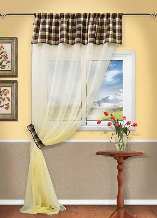 Длинные шторы на кулиске в интерьере