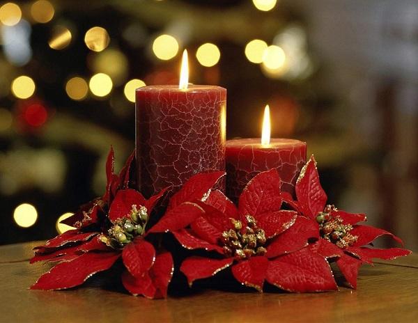Свеча на новый год