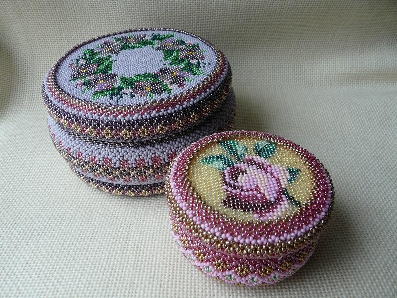Вышивка схемы для шкатулок бисером