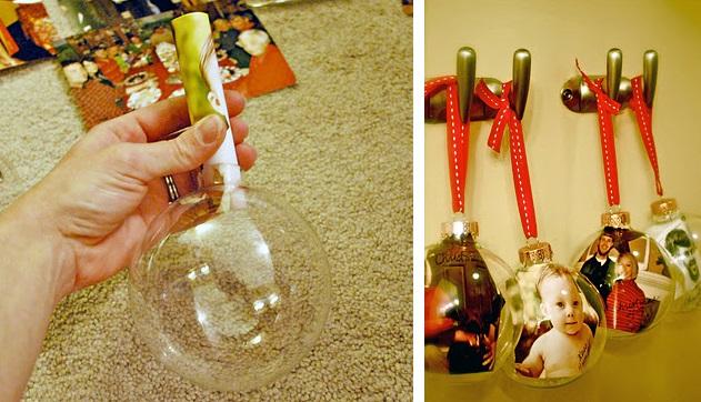 новогодние шары с фото своими руками