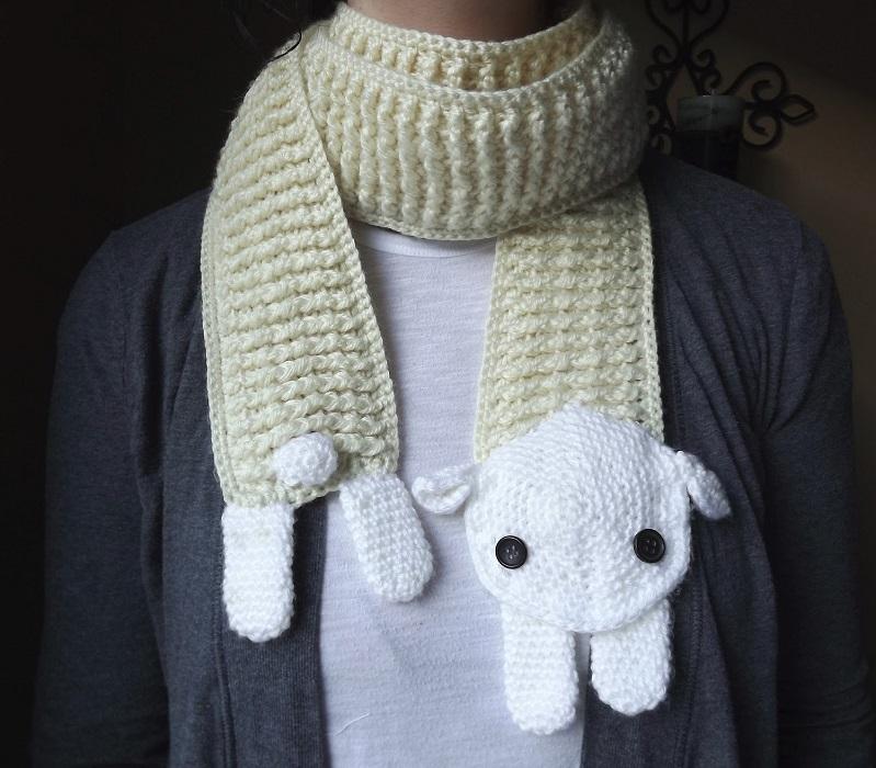 шарф с овцой