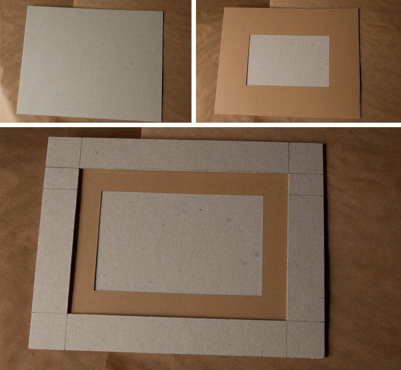 Как сделать рамку своими руками с картона