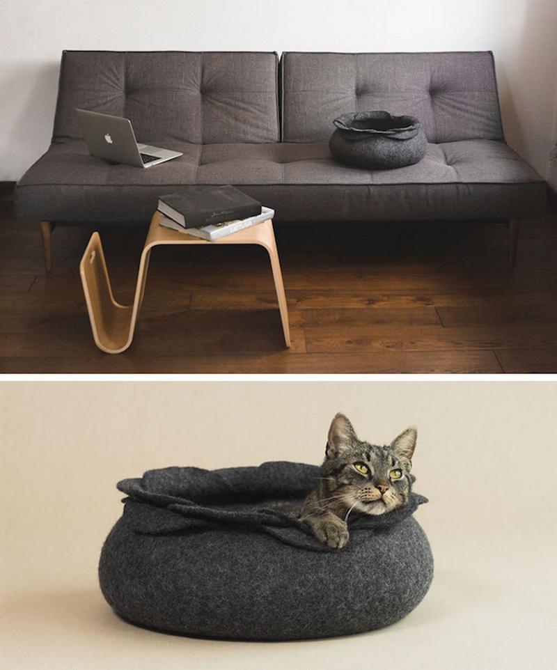 Лежанка для кошки в интерьере