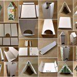 Фото 95: Новогодний чайный домик из коробки