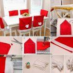 Фото 55: Изготовление чехла Санта-Клауса на стулья к новогоднему столу
