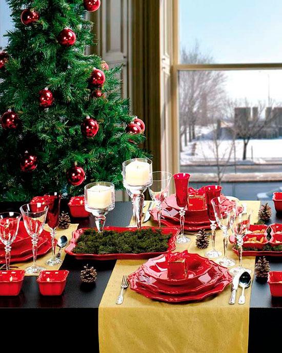Новогоднее оформление стола своими руками фото