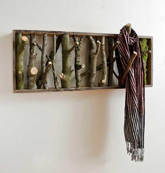 Аксессуары для для дома - вариант деревянного декора в интерьере