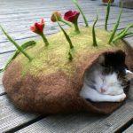 Фото 78: Лежанка для кошки из войлока