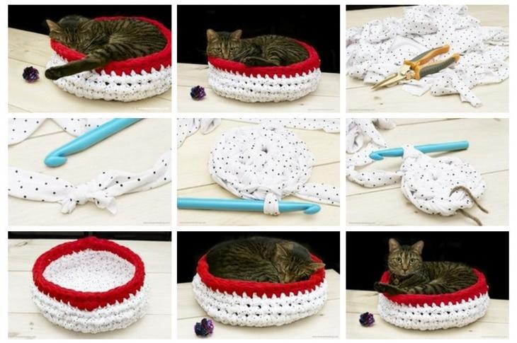 Как сделать корзину для кошки