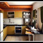 Вариант барного стола-подоконника на кухне