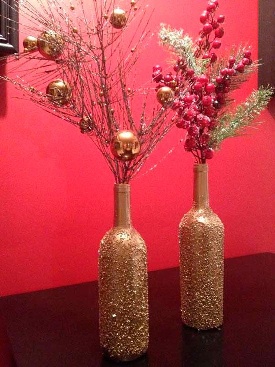 Новогодние вазы своими руками фото