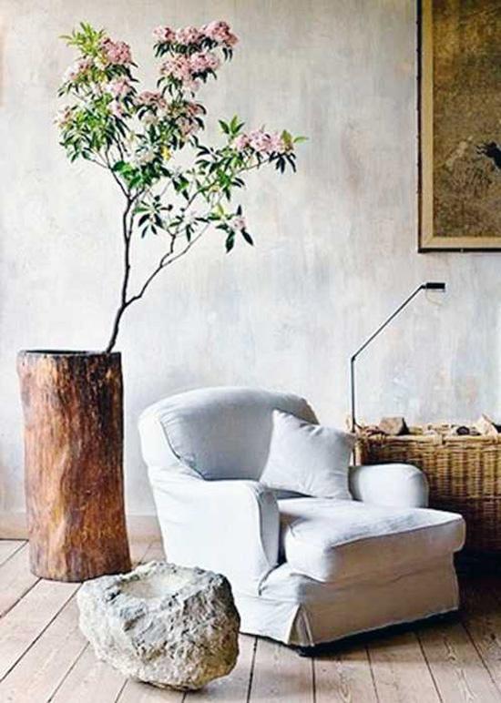 Ваза из бревна - декор из дерева в интерьере