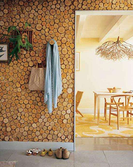 Применение спилов для деревянного декор в интерьере