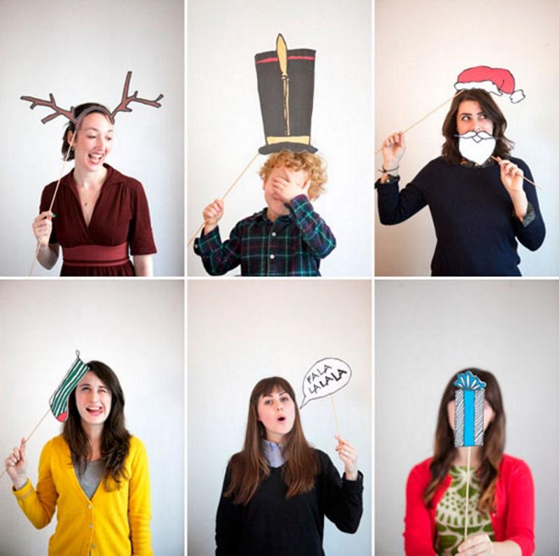 Забавные аксессуары для новогодней фото сессии