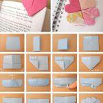 Фото 40: Закладка оригами–сердечко