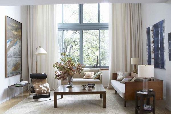 Дизайн штор для гостиной фотография