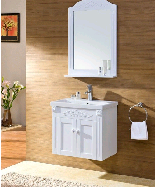 Мойдодыр в ванную комнату белый подвесной