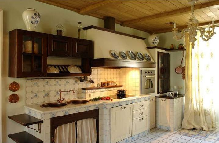 Прованс кухня в частном доме