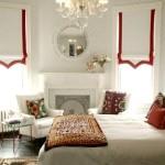 Спальня с красной каймой